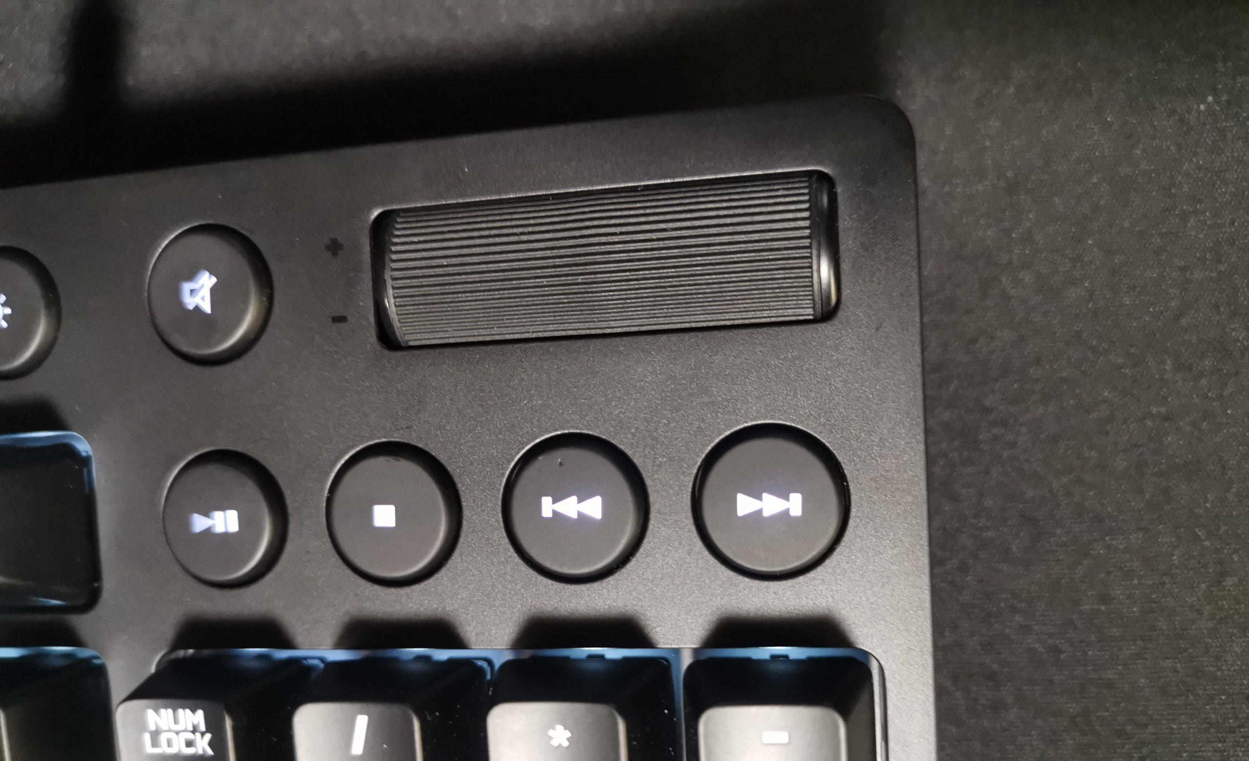 Logicool G610BLのメディアコントロール