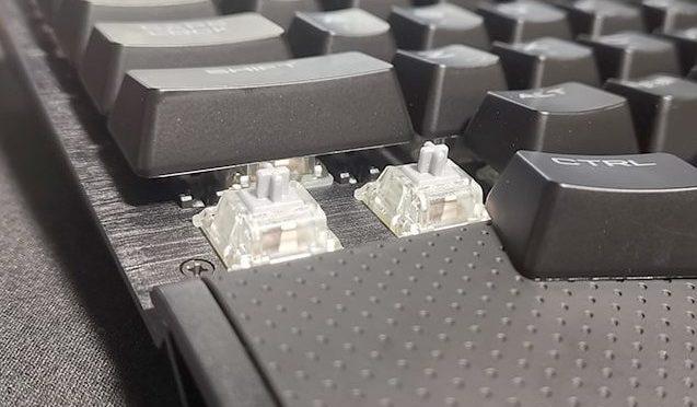 コルセアK65のキートップを外す