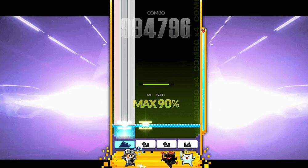 DJMAXのMAX90%画像
