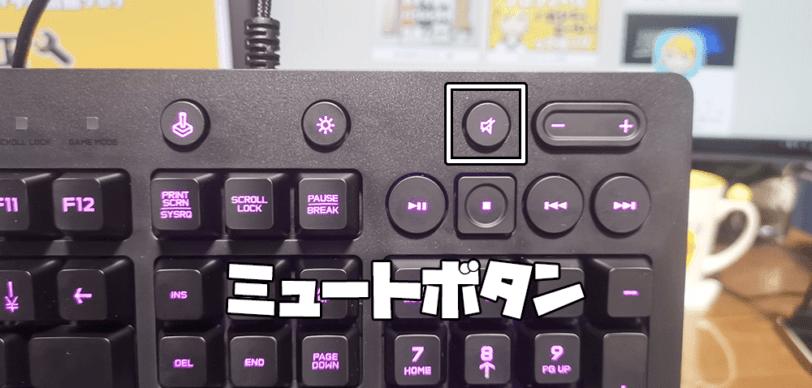 G213のメディアコントロール_ミュート