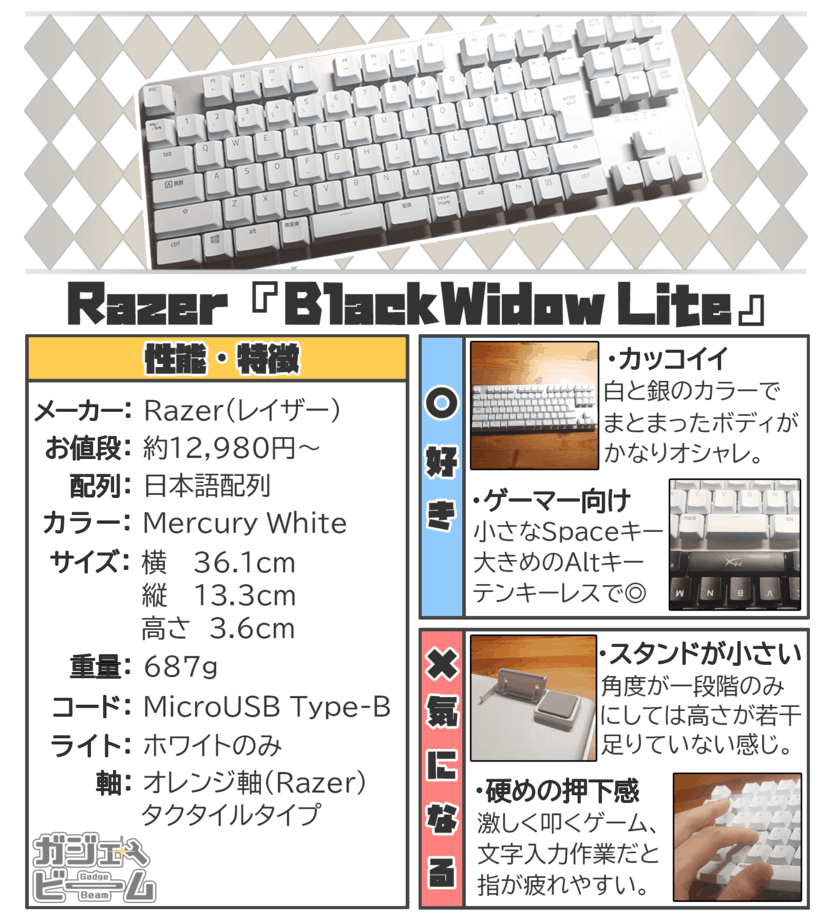 Razer BlackWidow Liteの要約画像