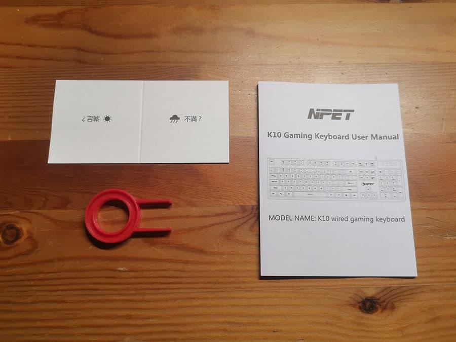 NPET K10の付属品