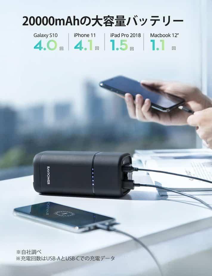 RAVPower RP-PB054proの充電回数