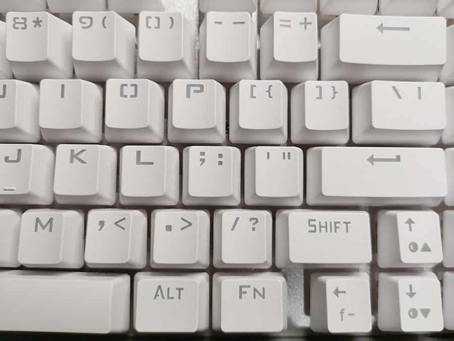 e元素のキー印字