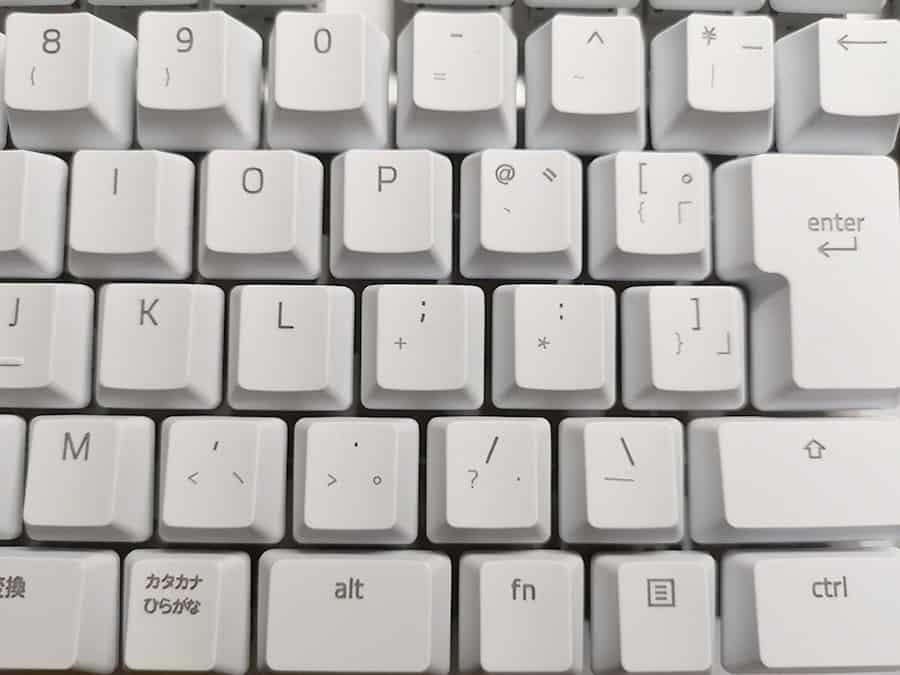 他キーボードのキー印字
