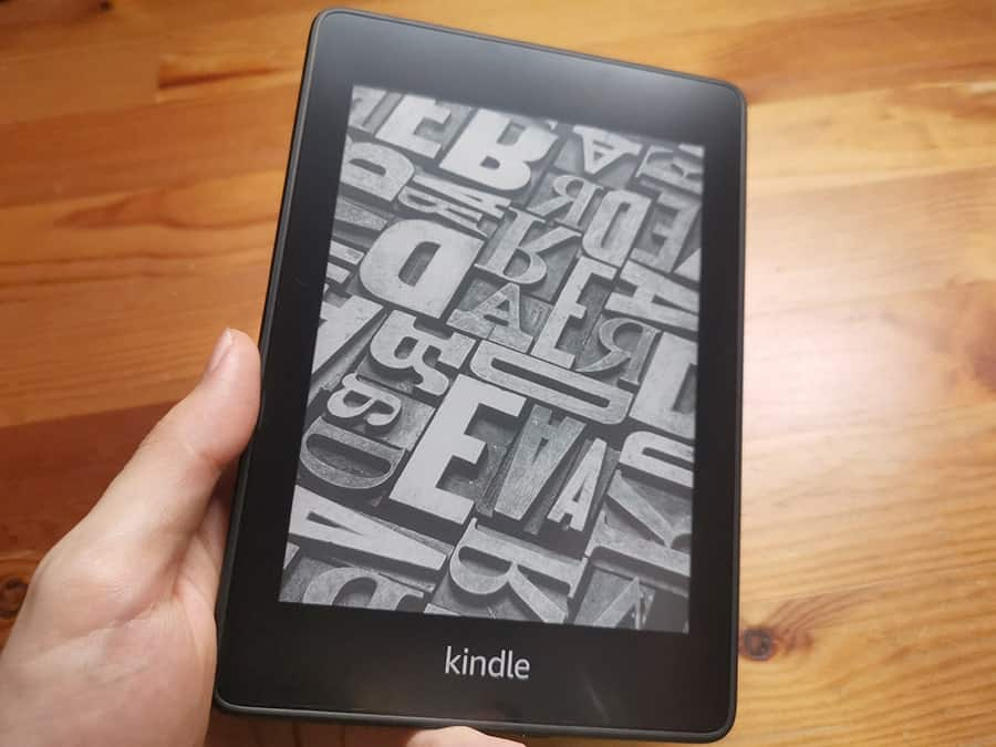 Kindle PaperWhiteのスリープ画面