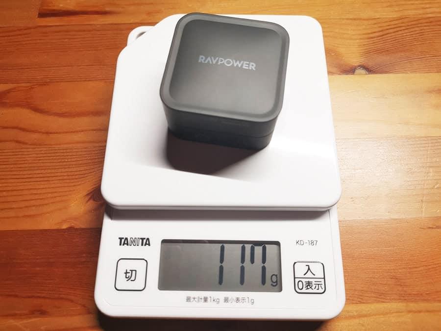 RAVPower RP-PC133の重量
