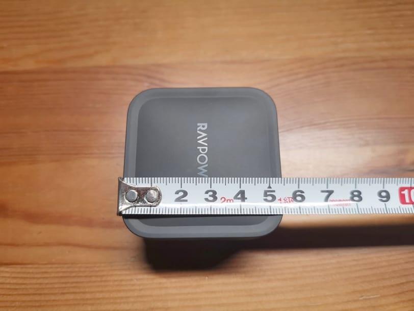 RAVPower RP-PC133の縦幅