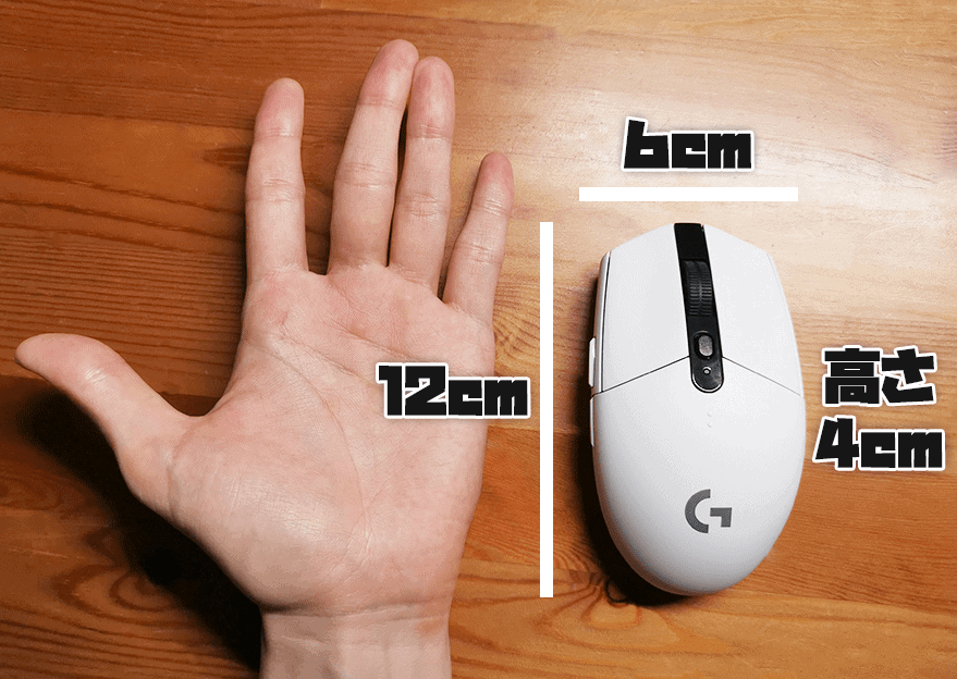 G304のサイズ