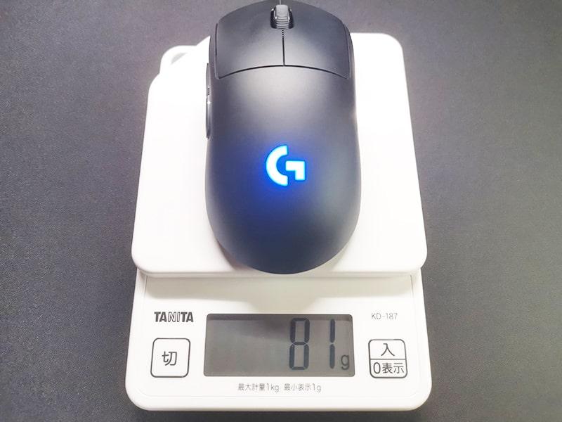 GproWLの重量(フタあり)